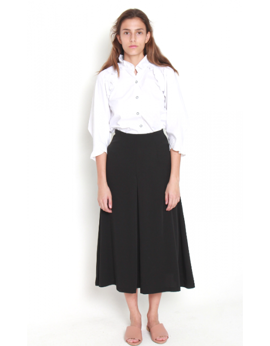 CROPPED CREPE SKIRT