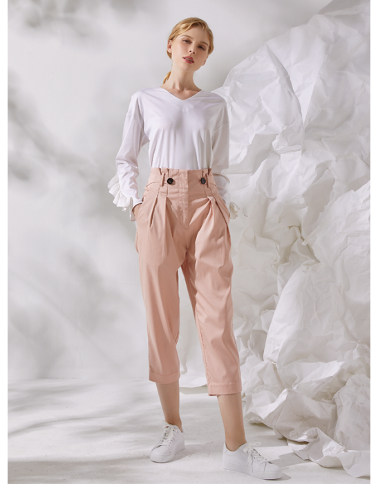 AMOY BUTTON TABS PANT
