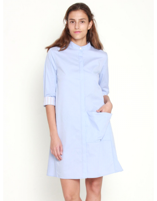 COLLAR SHIRT DRESS