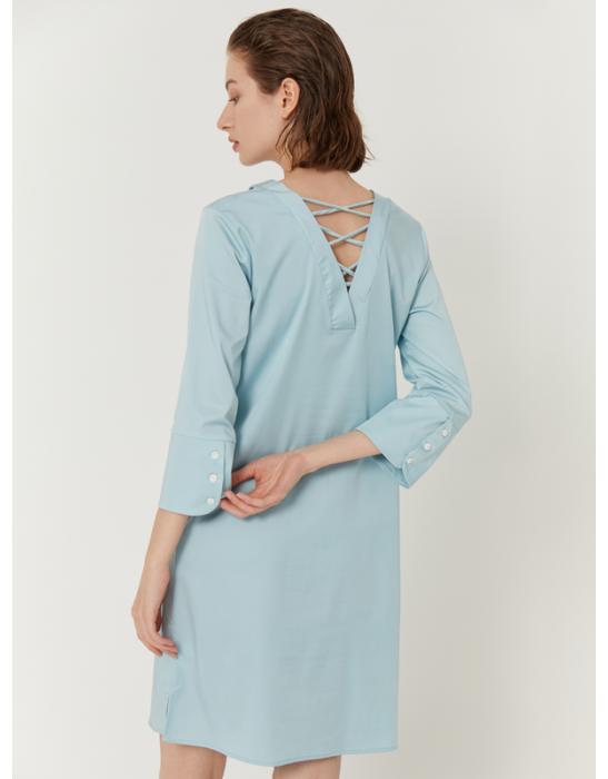 GARDEN CROSS BACK SHIRT DRESS