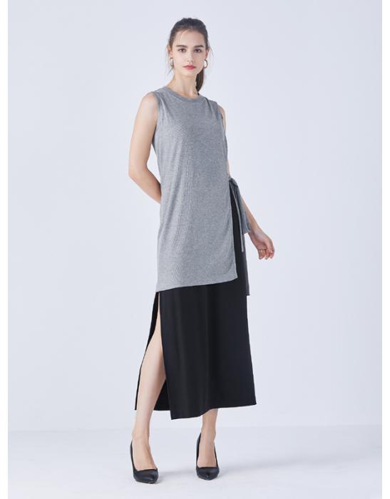 BLOCKED SPLIT DRESS