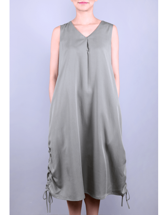 SIDE DRAW STRING DRESS