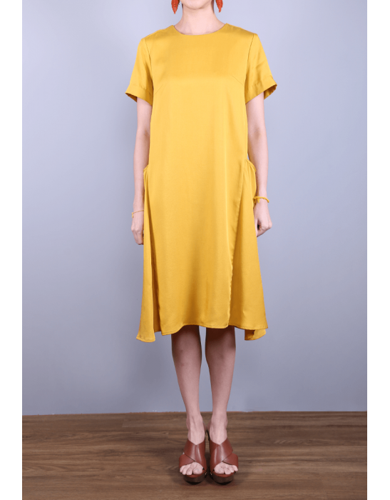 TENCEL DRAPED DRESS