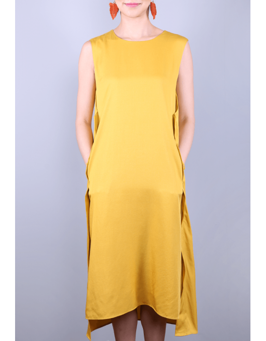 TENCEL MIDI DRESS