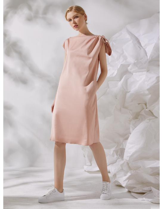 AMOY SHIFT DRESS - PINK