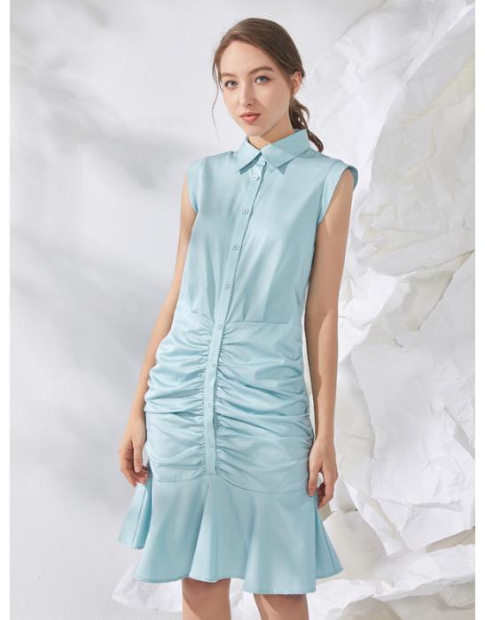 ERSKINE RUCHED SHIRT DRESS