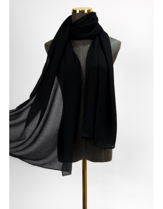 TEXTURED SCARF - BLACK