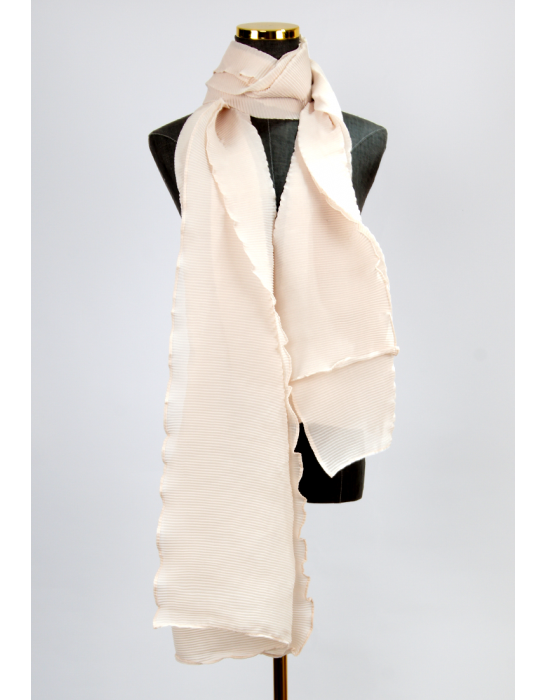 PLEATED SCARF-PINK
